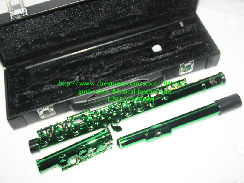 Wholesale Green 16 holes Flutes Woodwind flute  with case Free Shipping<br><br>Aliexpress
