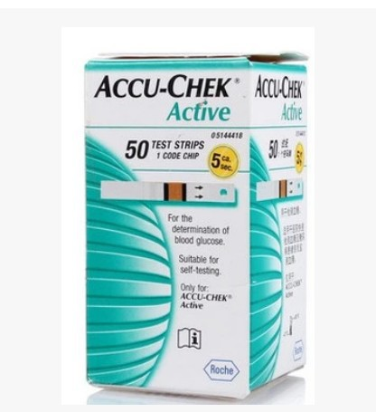 04.2016 + Free Lancets 50pcs+Free Alcohol Pad 50pcs ACCU-CHEK Active Dynamic blood glucose Test Strips 50pcs Expiry(China (Mainland))