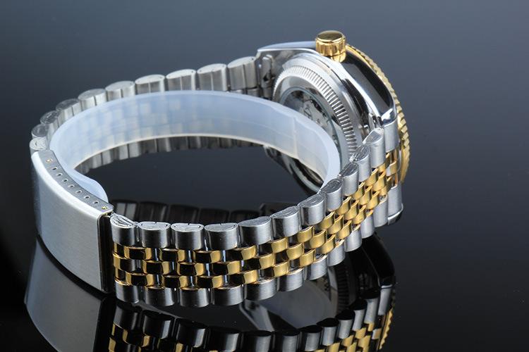 BIAOKA Часы Классические Мужские АВТО Дата автоматические Механические Часы С Автоподзаводом Аналоговые Скелет Золото стальной ленты Человек Наручные Часы