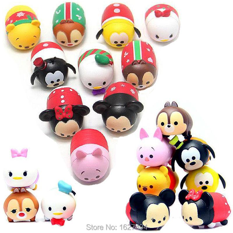 10pcs/set Tsum Tsum Mickey Minnie Mouse Donald Pluto PVC Action Figures Anime Figures Figurines Pendant Kids Toys For Boys Girls(China (Mainland))