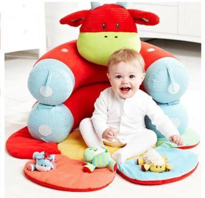100% Новый Малыш Уютный Новорожденных Мультфильм Детские Сиденья Детские Диван Подушка Красный Синий Зеленый Фиолетовый