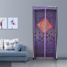 Hot sale Fashion Style Summer Prevent Mosquito Curtain Portiere Screen Door Magnetic Magnet Stripe Scenery June19(China (Mainland))