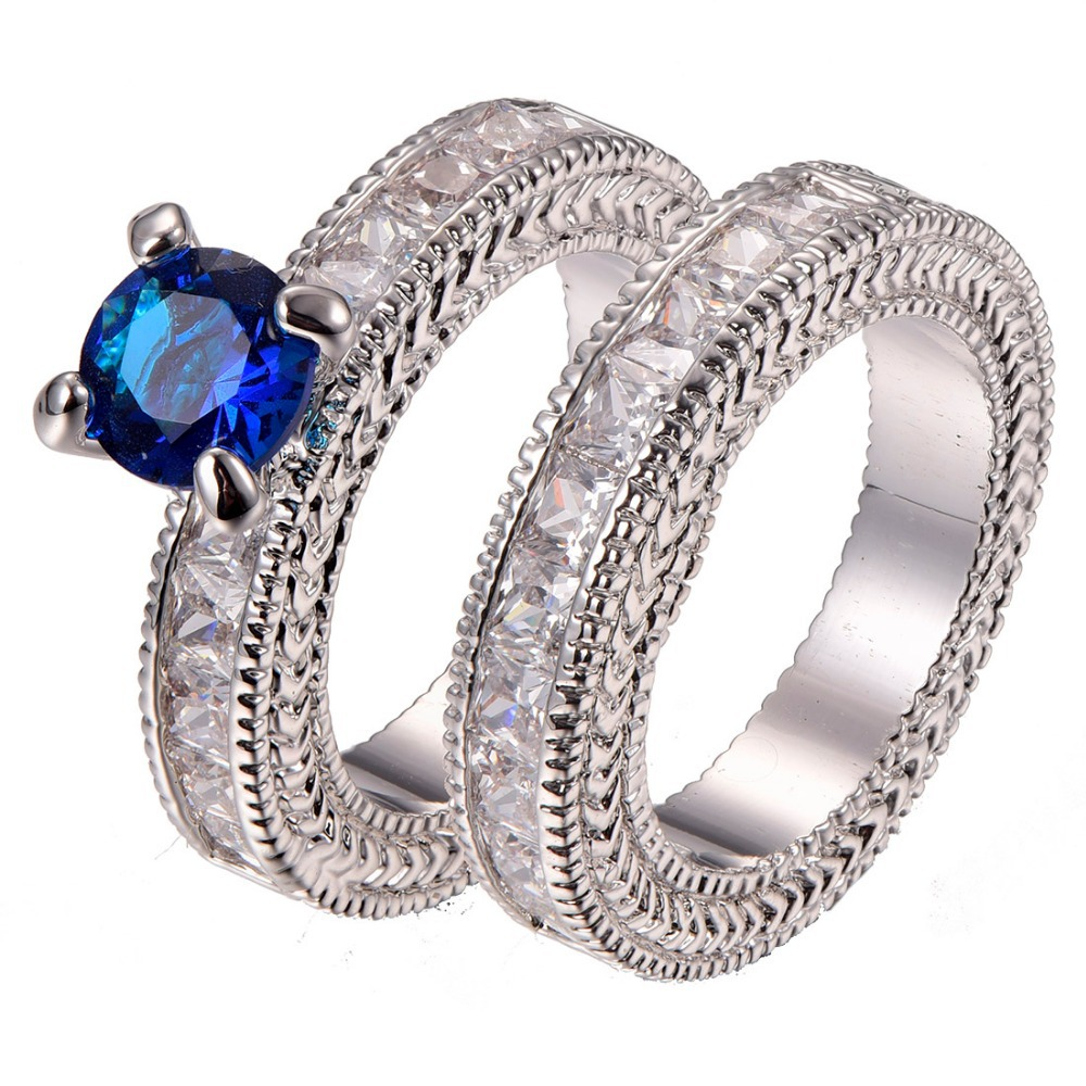 Aliexpress Buy Free Shipping Blue Sapphire 925 sterling silver Engageme