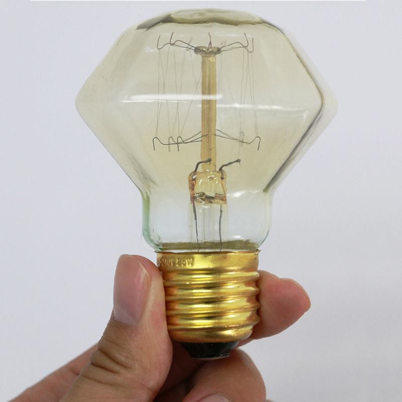 40W 110V 220v Diamond Tungsten Incandescent Bulb Tungsten Bulb Edison Light Retro Lamp Incandescent Edison Bulb(China (Mainland))