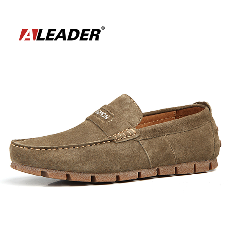 mens casual leather driving shoes loafers 2015