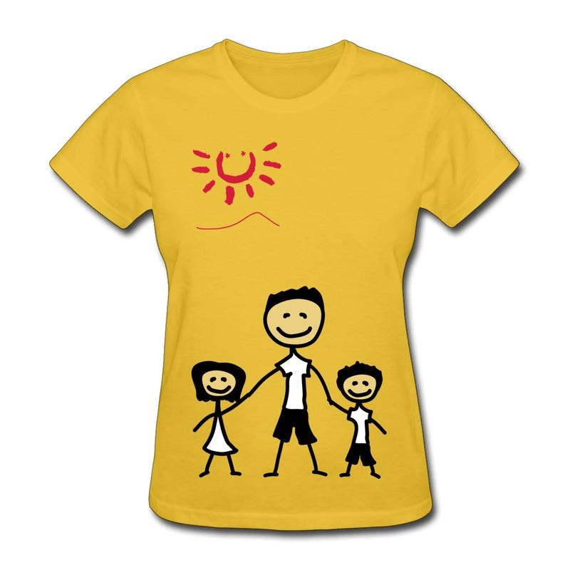 Gildan T Girl papa 3c Custom Cute Texts Tee Shirts for Ladys 2014 Style(China (Mainland))