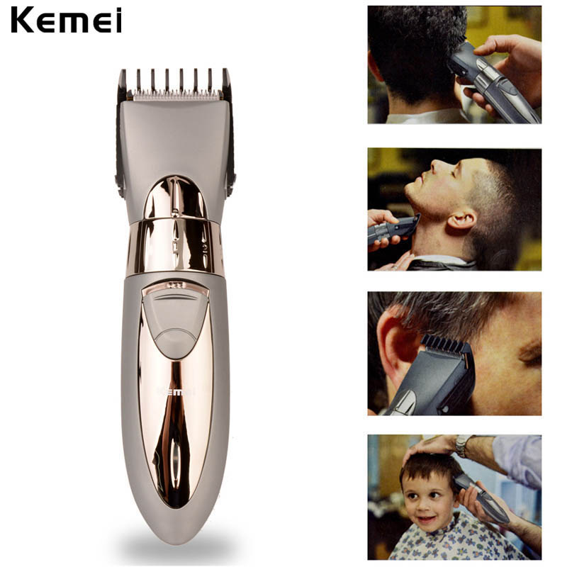 new rechargeable waterproof hair clipper beard electric hair trimmer shaver body hair mustache. Black Bedroom Furniture Sets. Home Design Ideas