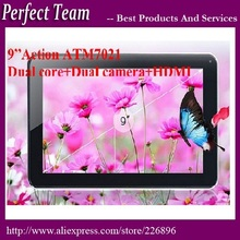 DHL Free shipping 10pcs/lot 9 inch Action ATM7021 HDMI  dual core dual camera 512/8G Android 4.2.2 OS Tablet PC(China (Mainland))