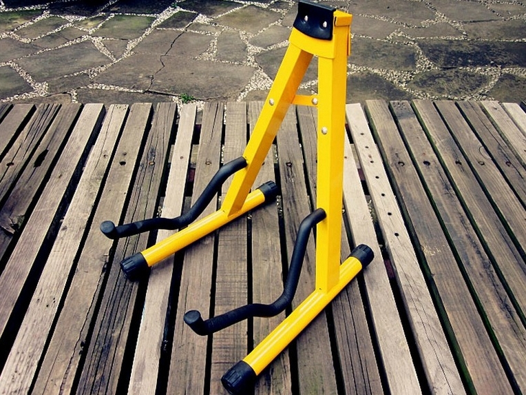 Yellow type A Guitar stand musical instrument parts FOR classic acoustic guitar electric guitars and bass ukulele Violin cello(China (Mainland))
