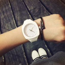 Fashion Trend Sports Square Jelly Candy Korean Silicone Quartz Wrist Watch Gift for Students Lovers Women