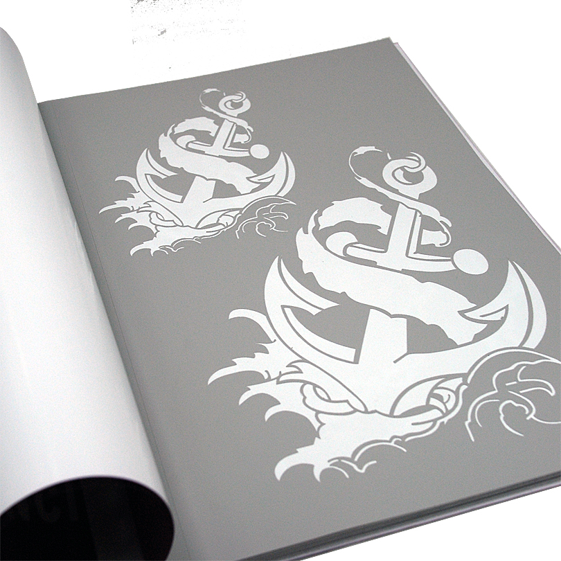 Tattoo stencil book promotion shop for promotional tattoo for Spray on tattoo stencils
