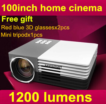 Biggest Sale Mini Digital LED Video 3D HD Projector support 1080P,Max 1200Lumens,Perfect Home theater Projector(China (Mainland))