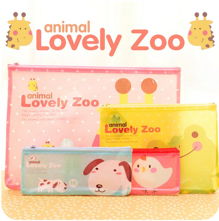 Гаджет  Lovely Animals Cartoon A4 A5 B6 Mini File Bag Document Bag A4 File Folder Stationery Filing Production FOD None Офисные и Школьные принадлежности