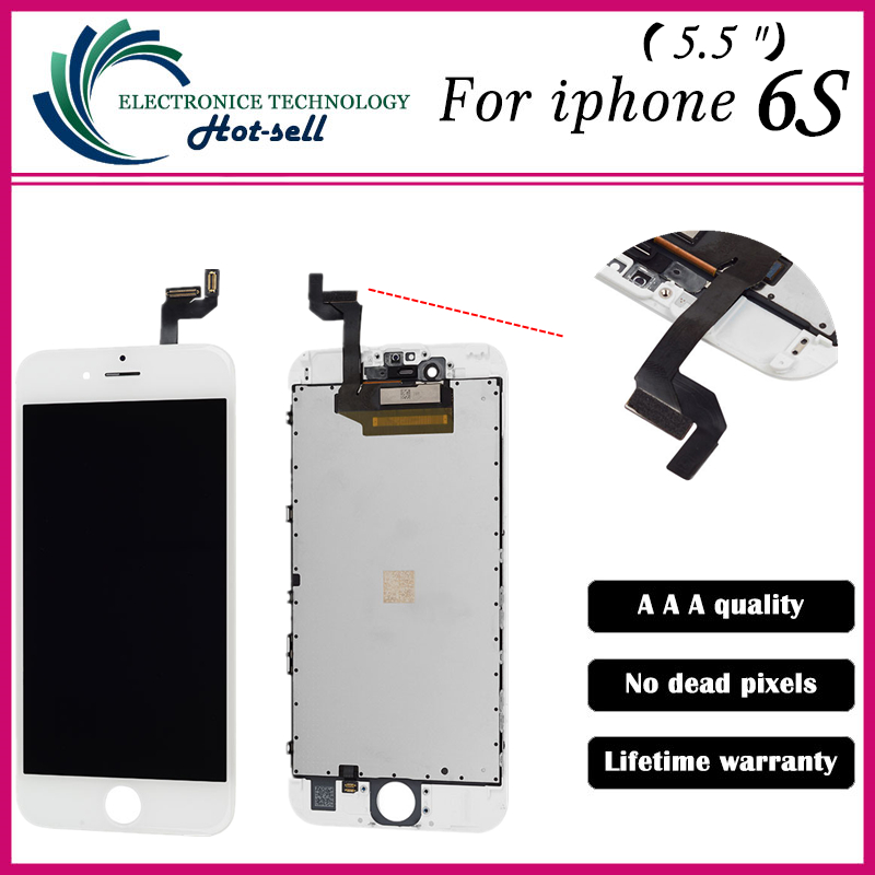 AAA Quality In The Market Ori AAA LCD Display for iPhone 6S LCD Screen Digitizer Touch Glass Screen Assembly White/Black(China (Mainland))