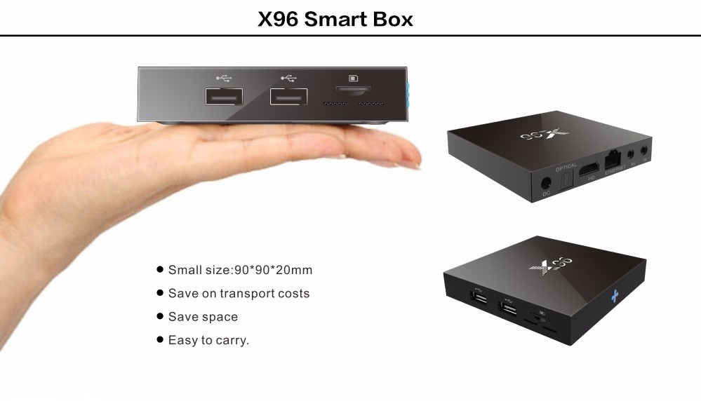 image for X96 2GB 16GB Amlogic S905X Quad Core Android 6.0 Marshmallow TV Box WI