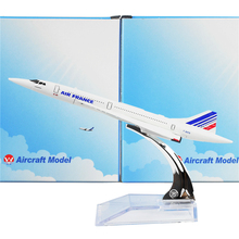 The Air France F-BVFB  Concorde 16cm Metal Airplane models Child Birthday gift Free Shipping(China (Mainland))