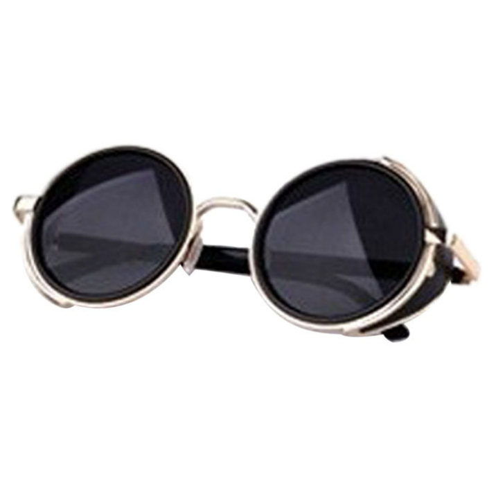 Good Quality Sunglasses  best deal good quality summer mirror lens round steampunk sunglasses