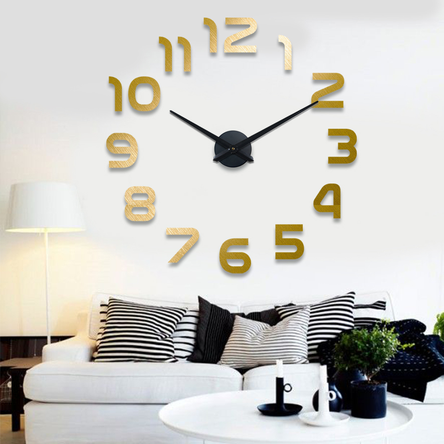 2015 new Unique Gifts Home Decor 3D DIY wall Clock Free shipping(China (Mainland))