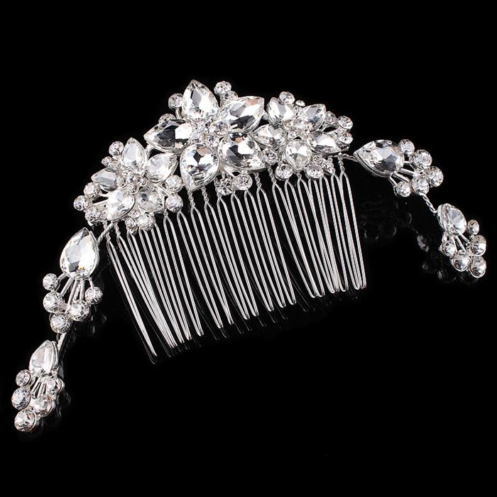 Crystal Rhinestone Flower Bridal Hair Comb Fashion Women Jewelry Wedding Head Wear Accessories FS000033(China (Mainland))