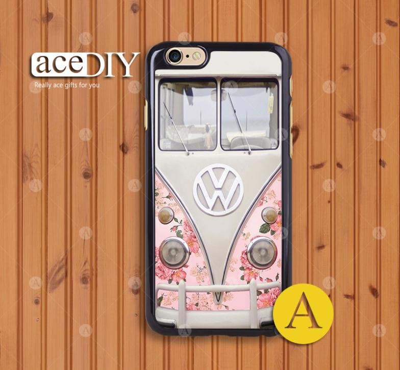 Hot Selling unique VW Bus case For Iphone 6 6 Plus Cover with wholesale Free shipping-S1073(China (Mainland))