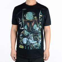 T-shirt 2015 Spring And Summer Star Wars Boba Fett Sketch George Lucas Contton Men Casual T shirts Fashion Short Sleeve T-shirt