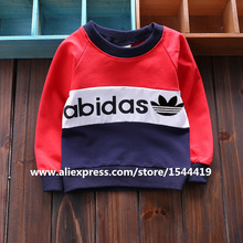 2016 New Spring Autumn Kids Boy Clothes Hoodies Coats Boys Sweatshirts Sport Baby Boy Hoodies Childrens Girls Blouse Outerwear(China (Mainland))