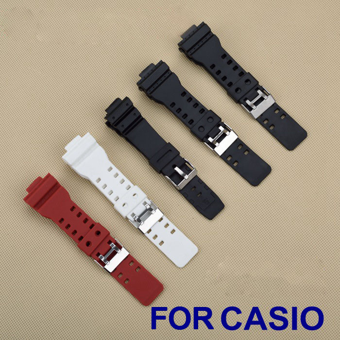 2016 High Quality New Brand 16mm Black Rubber Watch Strap For Casio DW-5600E DW-5700 G-5600 G-5700 Waterproof Silicone Belt Band(China (Mainland))