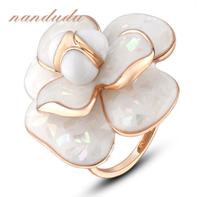 Nandudu FLASH DEALS Blooming Flower Rings Bridal Wedding Engagement Ring for women Gift Jewelry R681(China (Mainland))