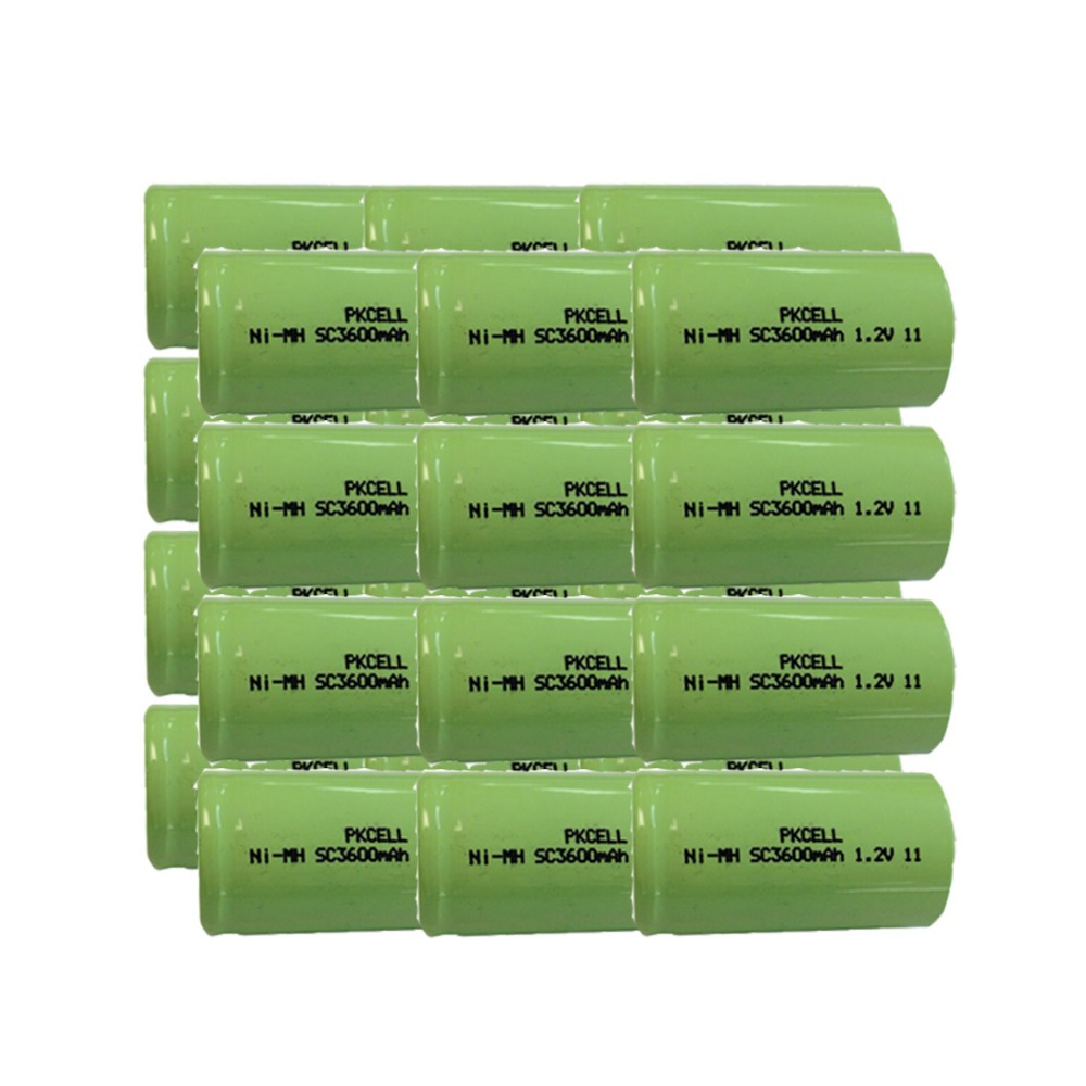 24Pcs 1.2v SC 3600mah rechargeable NIMH battery in flat top, non PCM, in industrial pvc packing(China (Mainland))