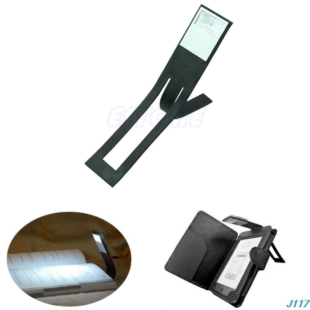 Free shipping Black Flexible Folding LED Clip On Reading Book Light Lamp For Reader Kindle-J117(China (Mainland))
