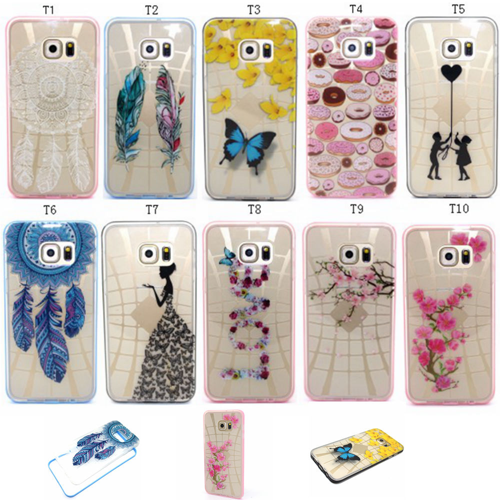 New Cell Phone 2 in 1 Thin NEO Hybrid Case For Funda samsung galaxy Note 5 N9200 Printed Flowers Transparent Back Cover Shells(China (Mainland))