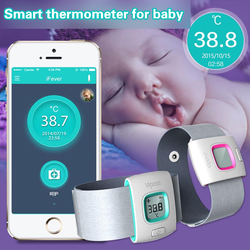 Original iFever Children Intelligent Wearable Electronic Thermometer Bluetooth Smart Happy Baby Monitor Household Thermometer<br><br>Aliexpress