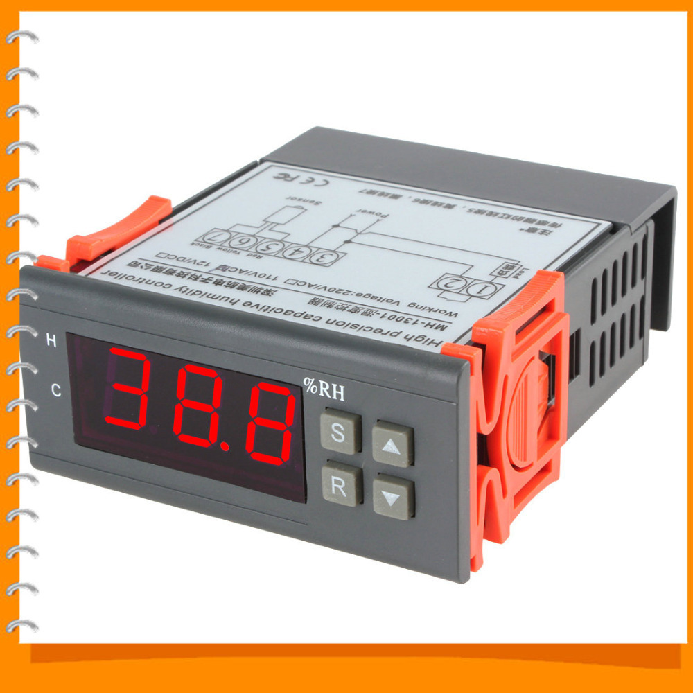AC 110V Digital LCD Air Humidity Controller Measuring Range 1% ~ 99% with Sensor<br><br>Aliexpress