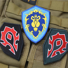 World 3D Embroidery Patch WOW Alliance & Horde Combat Armband Velcro Backside TAD Tactical Gear Patch