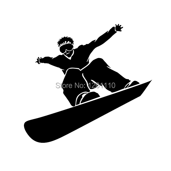 SNOWBOARDING * Window Wall DECAL * Snow board * Vinyl Car STICKER ~ Computer Laptop Wall SUV Truck Car Window Bumper(China (Mainland))