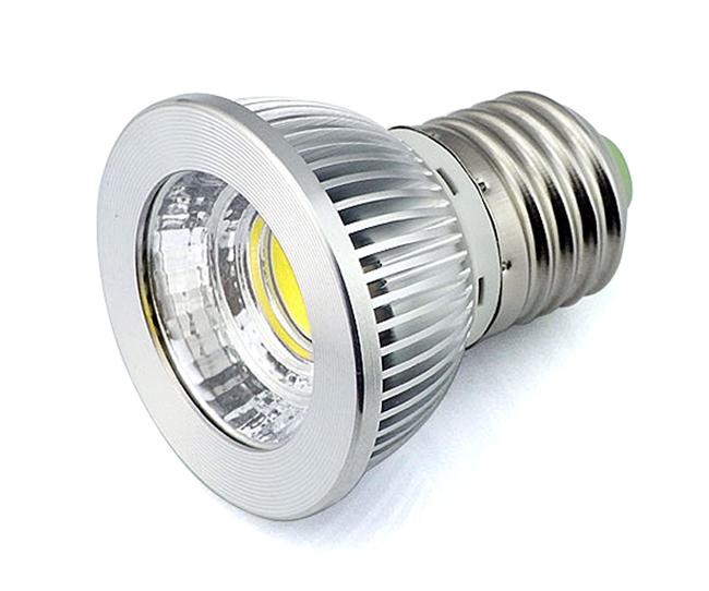 Led Lamp E27 5W COB Spotlight 110V 120V 240V Downlight 85-265V AC Table Light Reading Bulb 5 Pcs/Lot(China (Mainland))
