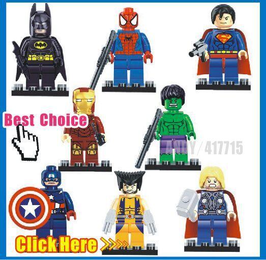 Marvel Avengers Super Hero Minifigures Building Blocks Sets figures Toys Bricks Superman Batman Hulk Kids Best Gift(China (Mainland))