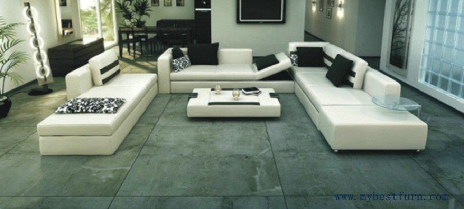 Free Shipping Villa Sofa, Large Size Genuine Leather Sofa, U Shaped Sofa, Sofa Bed , Luxury Model S8562(China (Mainland))