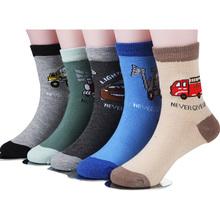 5 пара/1 лот весенние и осенние детей носки хлопка мультфильм автомобиль детей носки для мальчиков 1-12 год детские носки(China (Mainland))