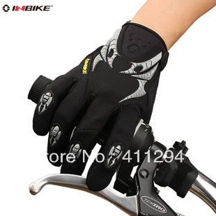 2014 Bike Bicycle Cycling Winter Warm Sports Gloves Shockproof Breathable Full Long Finger - Cherry World store