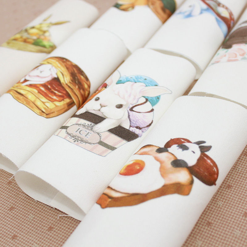 2016 New 15*15CM 10 Design Rabbit baby Hand Dyed Cotton Canvas Fabric Sewing DIY Patchwork Hand Embroidery Quilt Bags(China (Mainland))