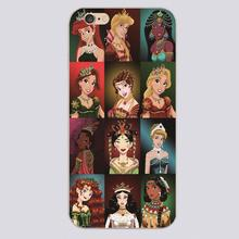 Disny princess puzzle Design transparent case cover cell mobile phone cases for Apple iphone 4 4s 5 5c 5s 6 6s 6plus hard shell