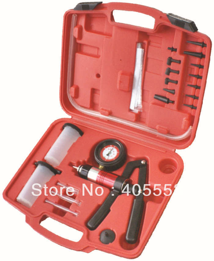 21PCS AUTO VACUUM/PRESSURE PUMP & BRAKE BLEEDING KIT WT04100(China (Mainland))