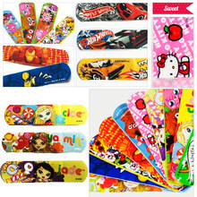 Free Shipping 100 PCs Waterproof Breathable Bandages Cute Cartoon Band Aid Hemostasis Adhesive First Aid Kit For Kids Children(China (Mainland))