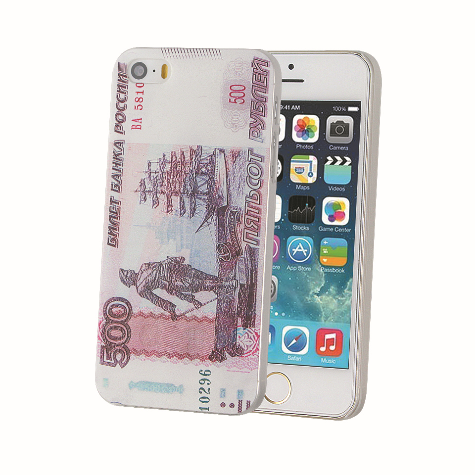 Cool Hot Russian 500 paper money pattern for iphone 5s Amazing phone case Good gift for her/him/BFF for iphone 5 for iphone5s(China (Mainland))