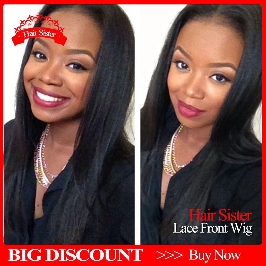 2016Free shipping black color middle part straight wigs synthetic lace front straight wigs heat resistant for black women<br><br>Aliexpress