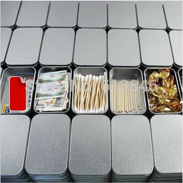 Silver Tin storage box Metal organizer box for Zakka Cigarette case Casket Zakka Novelty households(China (Mainland))