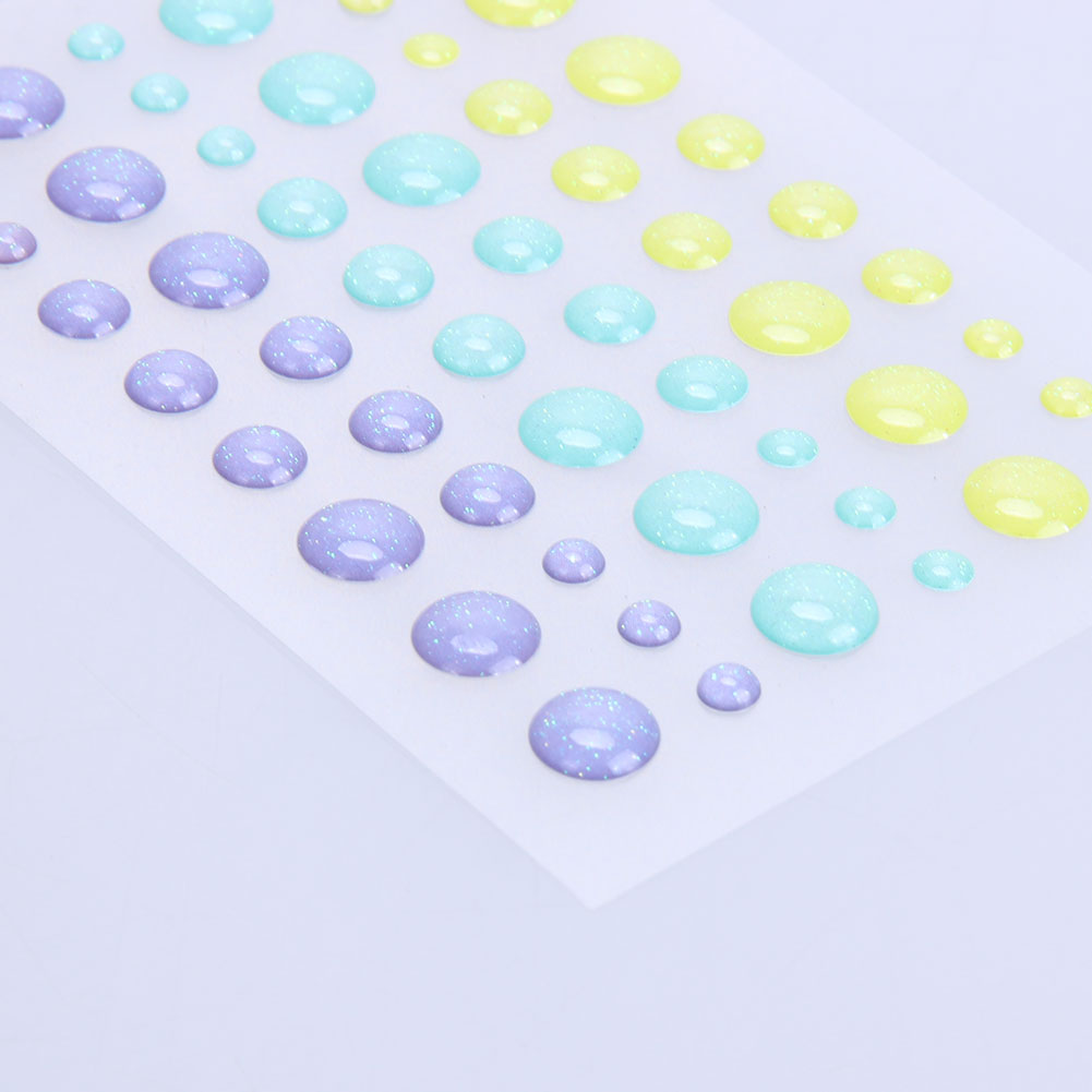 9x7cm Resin Sugar Sprinkles Self Adhesive Enamel Dots Resin Stickers Scrapbooking/Crafts/Card DIY Making Decoration Tools