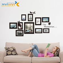 Photo Frame Stickers muraux amovibles souvenirs Photo Frame vinyle Stickers muraux Home Decor Art Mural Wall Sticker home decor(China (Mainland))