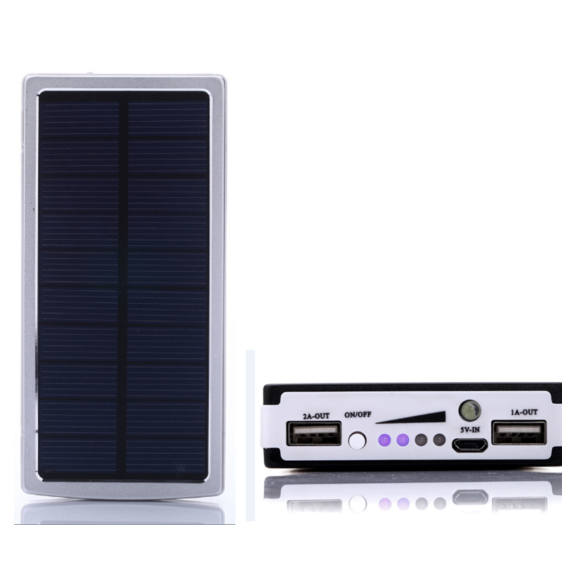 16000mah Portable Solar Power Bank bateria externa Solar Charger Powerbank Dual USB LED Lighting External Battery for Cell Phone